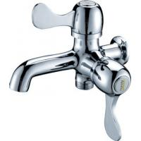 0.05 - 0.9MPA Single Cold Water Taps with 2 Handles , Chrome Plated Shower Faucet Manufactures