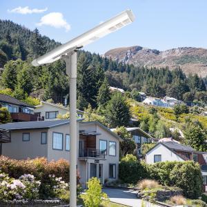 China Mono Solar Powered Street Lamp , PMMA Lens Solar Powered Pole Lights Aluminum Body on sale