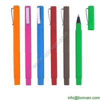 China promotional logo brand hotel ball pen,square rubber hotel pen on sale