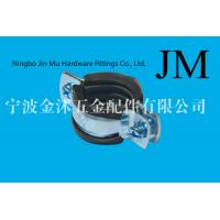 China Pipe Support Rubber Pipe Clips Stainless Steel 20 mm Bandwidth 1.5 mm Thick on sale