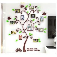 Photo Frame Tree Country Style Acrylic 3D Waterproof 11 Photo Frames Wall Stickers Manufactures
