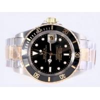 Rolex Submariner Swiss ETA 2836 Movement Two Tone With Black Dial Original Box 2 Year Warr Manufactures