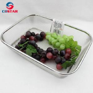 Rectangle Strainer Stainless Steel Mesh Sink Basket Vegetable Fruit Colander Strainer Kitchen Tools Manufactures