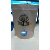 China Logo Printed Grip Seal Bags / Kraft Paper Bag For Baking Blend With Window And Ziplock on sale