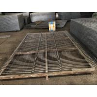 Low Carbon Steel welded Mesh Fence Panel / 3D Curved Fencing 1.8m*2.5m Manufactures