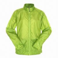 Ladies' Jacket with Nylon Zipper at Middle Front and Side Insert Pocket Manufactures