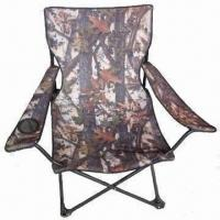 China Beach Folding Fishing Chair, Made of Steel Tube and 600D Polyester Measuring 57 x 57 x 95cm on sale