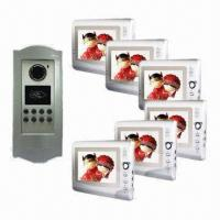 China Video Intercom System/Video Door Phone with 7 Inches Color Monitor, Audio/Video and Swiping Card on sale