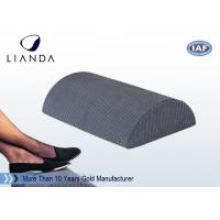 China Half Cylinder Memory Foam Cushion , Black Foam Foot Rest Cushion For Office / Home on sale