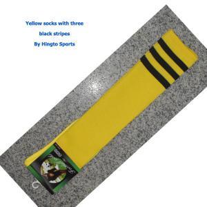 10% Spandex knee high tube socks Custom Sports Socks with Jacquard Logo Manufactures