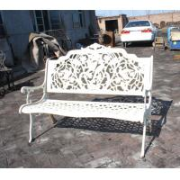Rattan White Cast Iron Table And Chairs / Antique Metal Outdoor Armchair Manufactures