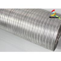 Telescopic Silver Aluminum Air Duct 10 Inch Round For Ventilation System Manufactures