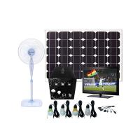 Solar power home system 80W for TV/ Satellite receiver , LED lighting, radio using Manufactures