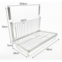 Kitchen Wall Mounted Kitchen Organizer Rack Dish Drying With Drilling Manufactures