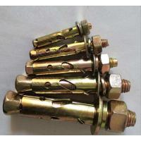 Metal M8 M10 M12 Sleeve Anchor Bolts Cylindrical Fasteners With Fix Nut / Flat Washer Manufactures