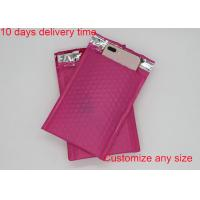 Red Color Poly Bubble Mailers  4 * 8 Inch With High Frequency Heat Seal Manufactures