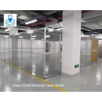 Class 10000  Pharmaceutical  Clean Booth, FFU clean room, Aluminum structure, with Sliding Doors Manufactures