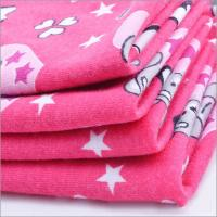 Rusha Textile  Knitted Poly Spun Spandex 30s Ring Spun Single Jersey Printed Fabric For Children Manufactures