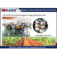 China Perennial Crop Drip Irrigation Flat Drip Pipe Manufacturing Machine Low Noise on sale