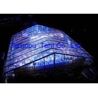 China Luxury 50 X 55 M Clear Span Structure Tents High Strength For 2000 People on sale