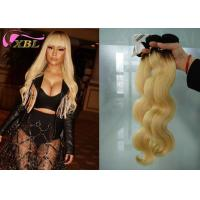 From 12 inch to 26 inch Ombre Blonde Brazilian Body Wave Human Hair Weave #1b/613 Colored Manufactures