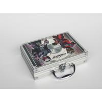Silver Aluminum Hand Carrying Case With CMYK Printing 260 * 200 * 80mm Light Weight Manufactures