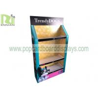 Floor Standing Pop Display Shelf, Corrugated Plastic Display Rack For Pets Products Manufactures