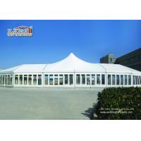 Buy cheap White High Peak Luxury Wedding Party Tents Waterproof  With Clear Windows from wholesalers