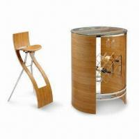 Bistro Set with Chrome-plated Metal Tube and 18mm Solid Bamboo Chair Seat Manufactures
