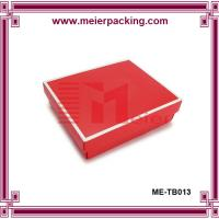 Coated paper garment box, clothing packaging box ME-TB013 Manufactures