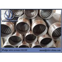 Water Well Water Treatment Johnson Screen Wedge Wire Screen Slot Tube Manufactures