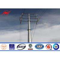 Anti - Ultraviolet 50FT Distribution Galvanized Steel Pole With Cross Arm Manufactures