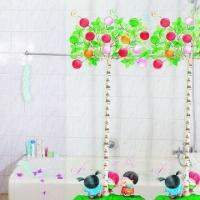 Promotional PVC Printed Shower Curtains, Customized Designs and Sizes are Accepted Manufactures