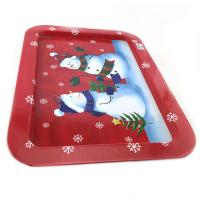 China Different Colors Custom Packaging Boxes CC Christmas Rectangular Tin Plates / Cups on sale