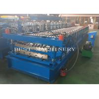 YX-686 762 Double Layer Deck Profile Roof Roll Forming Machine 8-12m/Min Speed for sale