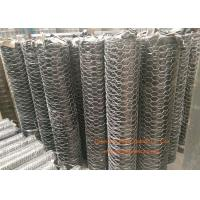 """1 / 4"""" Galvanized Hexagonal Gabion Wall Mesh 0.5 - 2.5m Width For Poultry Netting Manufactures"""