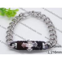 China Unique Design Silver Jewelry Plain Stainless Steel Chain Bracelets 2440012 on sale