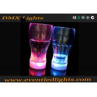 100ml Halloween Pink / Blue LED Plastic Cups Coke CE / ROHS / FDA Manufactures