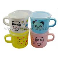 Safe Baby Training Cup for Drink Milk with Handle , PP Baby Water Training Cup with Lid Manufactures