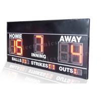Electronic 7 Segments LED Baseball Scoreboard Front Face UV Protection Manufactures