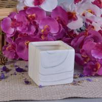 China Popular Hydrographics Transfer Printing Square Ceramic Candle Holders on sale
