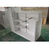 High Gloss White MDF Clothing Store Shelves / Retail Store Fixtures For Children Manufactures