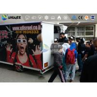 9 Motion Seats Mobile Trailer 5D Movie Theater , Truck Mobile 5D Cinema Manufactures