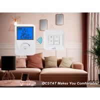White / Blue Backligt Intellegent Non-programmable RF Heating and Cooling Thermostat Manufactures