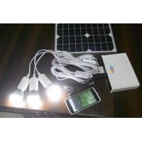 solar power system 5W solar system with lithium battery for solar home LED light yellow Manufactures