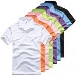 Men's short-sleeved cotton T-shirt men bottoming shirt solid color Manufactures