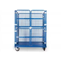 Steel Wire Warehouse Cage Trolley Collapsible Rolling Security Cage High Strength Manufactures