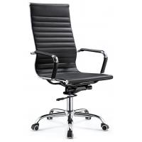 High End Excecutive High Back Office Chair Pu Leather Chrome Arm Waterproof Manufactures