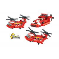 China 3 In 1 Transformer Fire Engine Building Blocks For Toddlers And Preschoolers on sale
