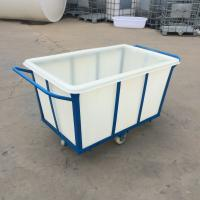 China K300-2 Durable Rotomolded Rectangular Bins Soiled Linen Trolley 300L Linen Trolley Laundry Tub on sale